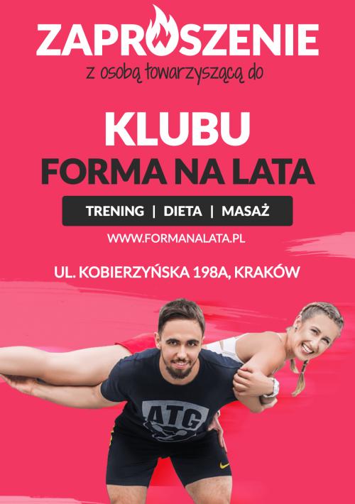 Klub fitness Kraków bezpłatne wejście
