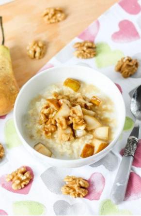Zdrowe śniadanie przed treningiem - kasza jaglana z masłem orzechowym