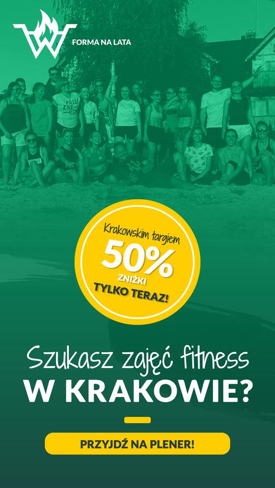 50% zniżki na zajęcia fitness w Krakowie